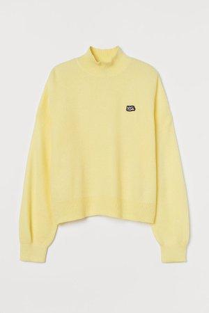 Turtleneck Sweater - Yellow