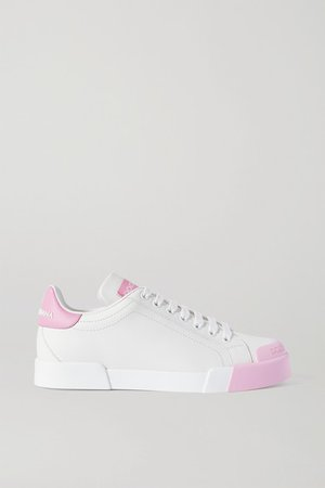 Portofino Logo-print Leather Sneakers - White
