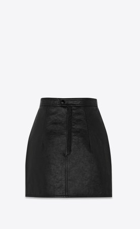 YSL antiqued leather skirt