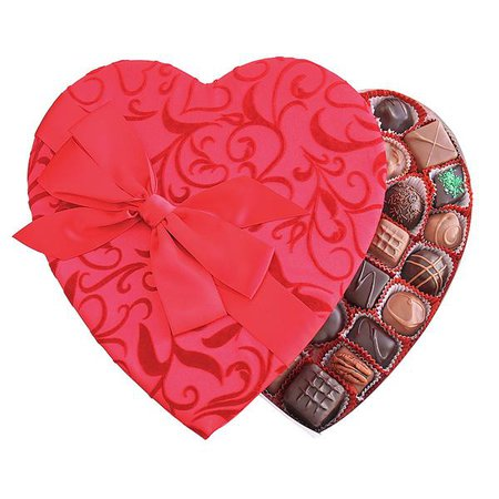 valentines day heart box candy of the bow - Google Search