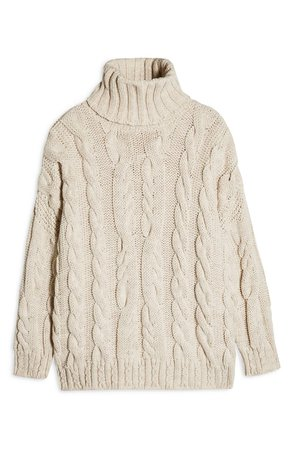 Topshop Chunky Cable Turtleneck Sweater | Nordstrom