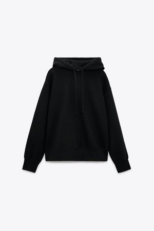 HOODED SWEATSHIRT | ZARA United States BLACK