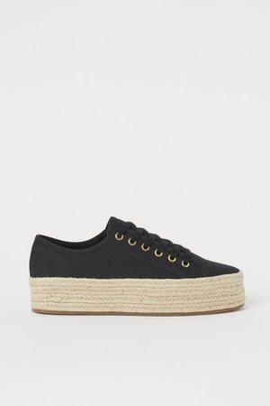Sneakers con plateau - Nero - DONNA   H&M IT