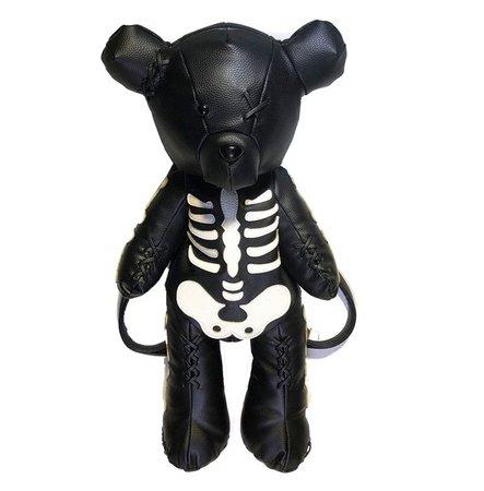Punk Skeleton Bear Backpack   RebelsMarket