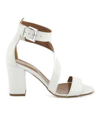 Paris Texas White Leather Sandals
