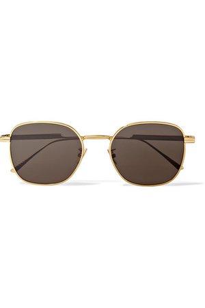 Bottega Veneta | Square-frame gold-tone sunglasses | NET-A-PORTER.COM