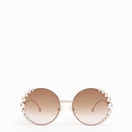 Metallic pink sunglasses - RIBBONS & PEARLS | Fendi