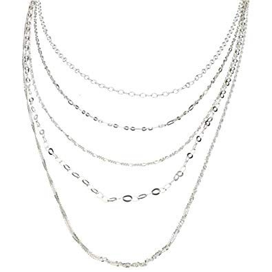 Layered necklace - silver chains