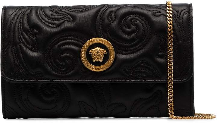 quilted baroque clutch bag