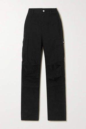 Cotton-twill Cargo Pants - Black