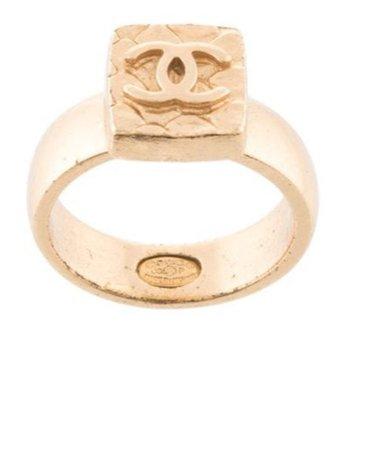 Chanel cc logo ring