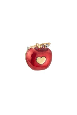 Embellished Apple Stud Gr. One Size