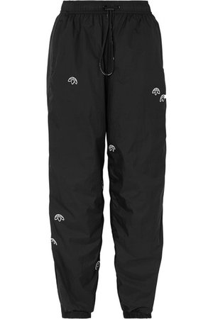 Adidas Originals By Alexander Wang | Pantalon de survêtement en tissu technique à appliqués | NET-A-PORTER.COM