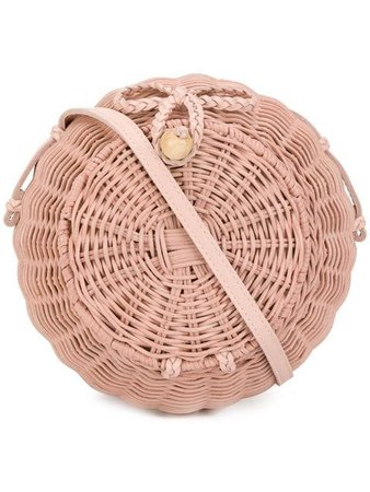 ULLA JOHNSON round woven crossbody bag