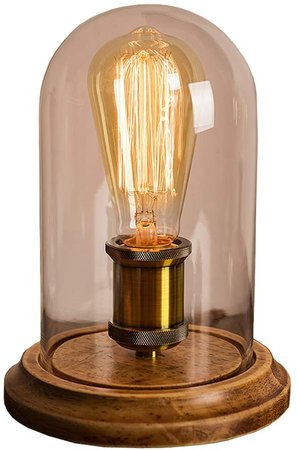 Surpars House Vintage Desk Lamp Glass Shade Table Lamp Edison Bulb Included: Amazon.ca: Home & Kitchen