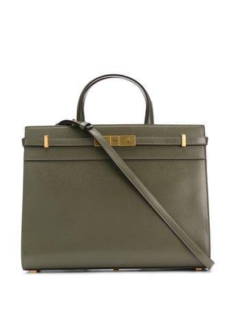 Manhattan Green Olive Tote Bag