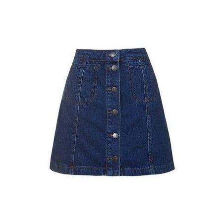 TopShop Tall Button Pocket Skirt