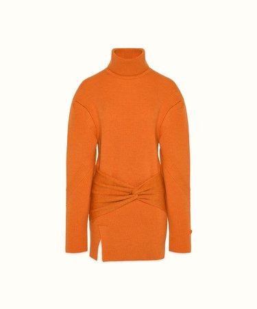 Fenty | Turtleneck Knit Mini dress Burnt Orange 2/20
