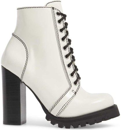 Jeffrey Campbell | 'Legion' High Heel Boot in White Box Black