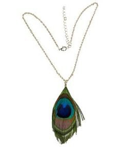 Private Island Party - Mardi Gras Peacock Feather Necklace