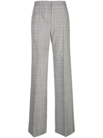 Narciso Rodriguez Plaid Print Trousers | Farfetch.com