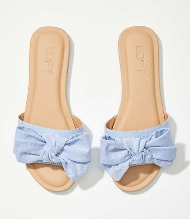 Bow Slide Sandals | LOFT
