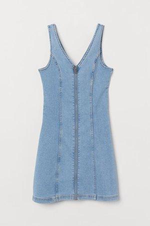 Short Denim Dress - Light denim blue - Ladies | H&M US