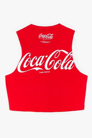 Coca-Cola Cropped Graphic Tank Top | Nasty Gal