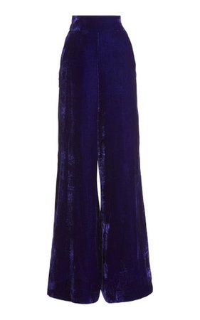 Velvet Wide-Leg Trousers By Dundas | Moda Operandi