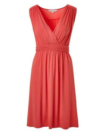 Coral Summer Dress   Cleo
