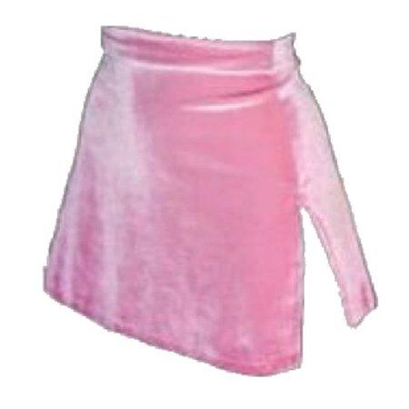pink velvet skirt png