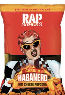 RAP SNACKS cardi b hot cheese habanero popcorn