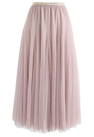 My Secret Weapon Tulle Maxi Skirt in Pink - Retro, Indie and Unique Fashion
