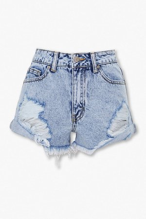Distressed Denim Shorts | Forever 21