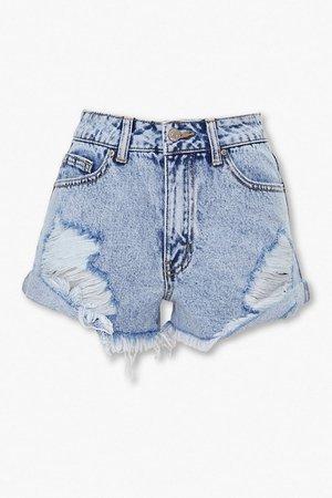 Distressed Denim Shorts | Forever 21
