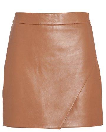 Leather Wrap Mini Skirt