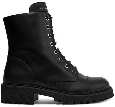 Chris Leather Ankle Boots - Black