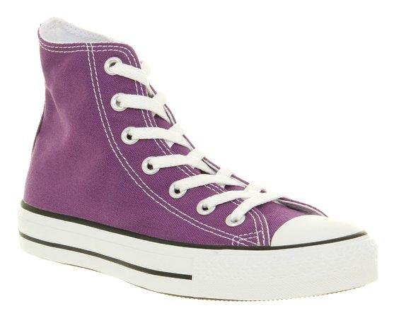 Purple High-Top Converse
