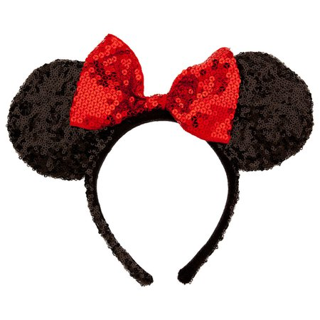 Minnie Mouse Ears Headband - Sequined | shopDisney