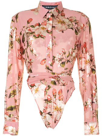 Y/Project long-sleeved Floral Print Shirt - Farfetch