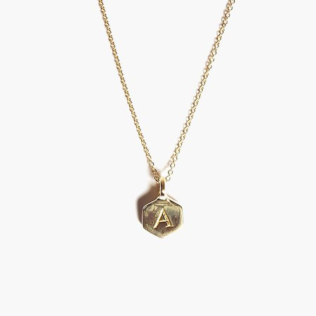 Odette New York® Hex monogram necklace : Women necklaces | J.Crew