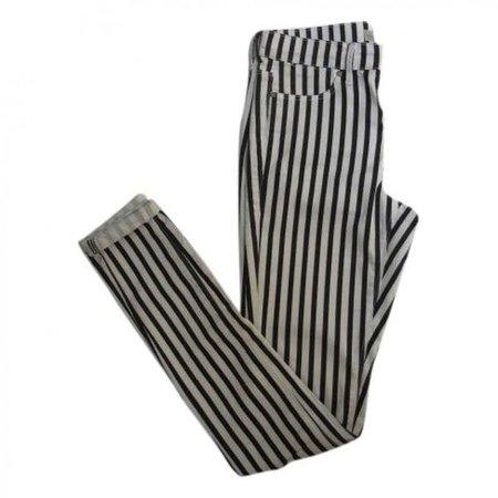 Striped Topshop Skinny Jeans