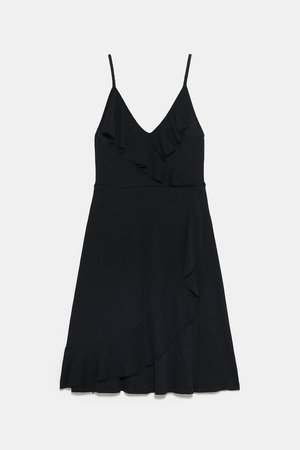 STRAPPY RUFFLED DRESS - STARTING FROM 70% OFF-WOMAN-SALE | ZARA United States black