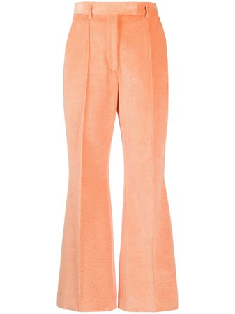 Acne Studios Flared Cropped Trousers Ss20   Farfetch.com