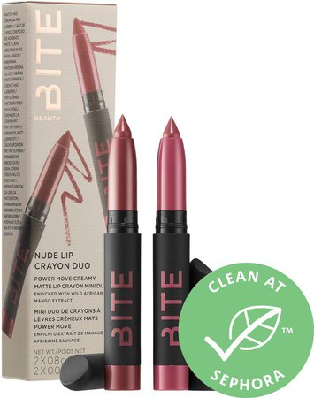 Bite Beauty - Mini Nude Lipstick Crayon Duo Set