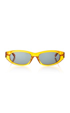 Karen Walker Paradise Lost Oval-Frame Acetate Sunglasses