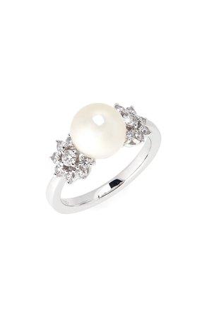 Mikimoto Akoya Pearl Diamond Ring   Nordstrom