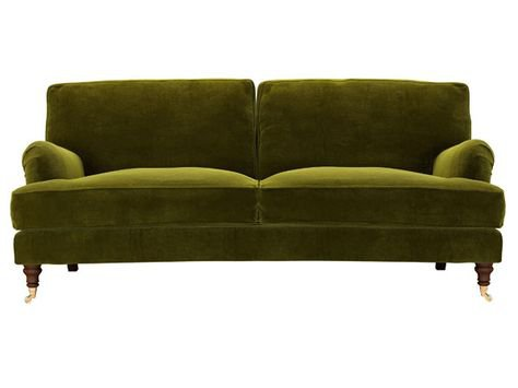 green velvet sofa couch png filler