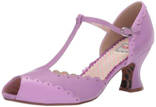 Women's 254-Carlie Peep Toe Pump Lavender 6