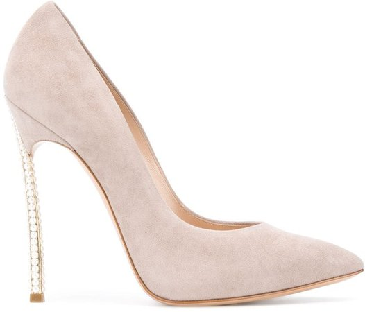 Embellished Stiletto Heel Suede Pumps